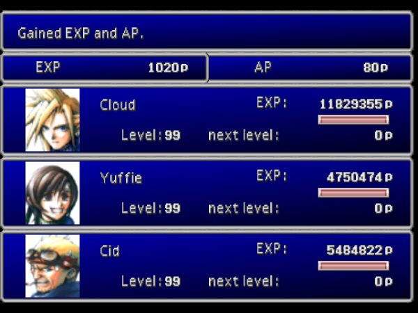 FFVII_Level_Up_Screen