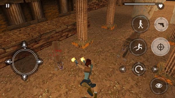Lara fighting