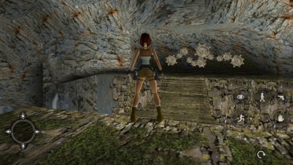 Lara in front of a puzzle
