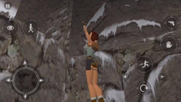 Lara jumping for a ledge