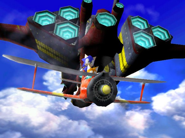 Sonic & Tails Flying
