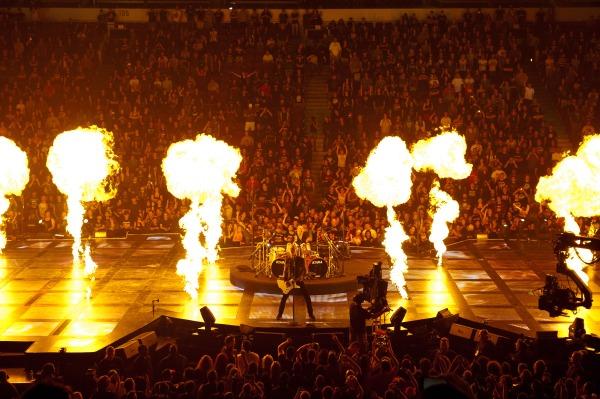 Metallica stage shot