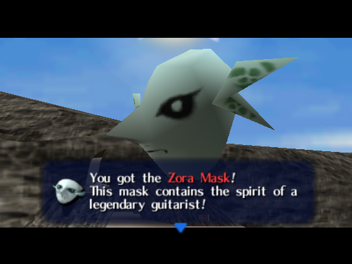 Majora's Mask Zora Mask