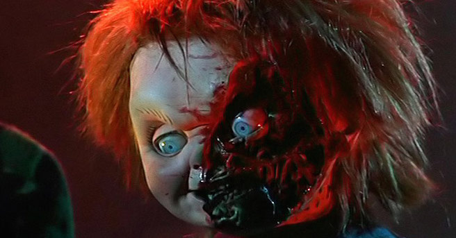 Child's Play 3 Chucky Cut Face